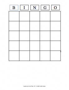 Bingo Game Template