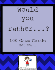 Would you rather…? Game Cards, Set of 100–Set No. 1