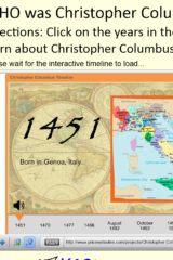 Christopher Columbus Interactive Timeline