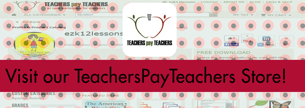 Visit Our TeachersPayTeachers Store