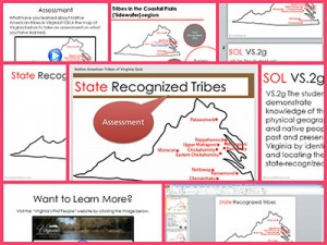 Native American Tribes of Virginia Sample Collage